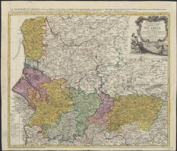Carte du gouvernement general de Picardie qui comprend la generalité d'Amiens avec l'Artois & les frontieres des Pays Bas