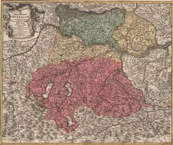 Austriae Archiducatus Superioris in suas Quadrantes Ditiones exacte divisi accuratißima Tabula