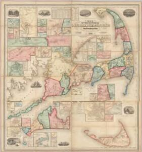 Map of the counties of Barnstable, Dukes and Nantucket, Massachusetts : based upon the trigonometrical survey of the state