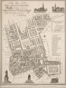 To the Most Noble JOHN, DUKE OF BEDFORD. This Plan of the United Parishes of ST. GILES in the FIELDS & ST. GEORGE, BLOOMSBURY, 4