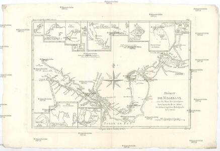 Détroit de Magellan avec les plans des principaux ports, bayes & c. de ce détroit