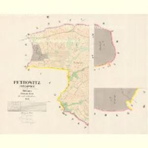 Petrowitz (Petrowicz) - c5728-1-003 - Kaiserpflichtexemplar der Landkarten des stabilen Katasters