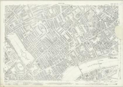 London (1915- Numbered sheets) VIII.4 (includes: Battersea; Chelsea; Kensington) - 25 Inch Map