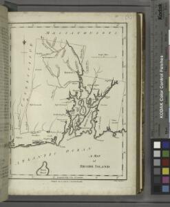 A map of Rhode Island.