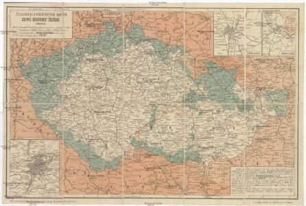 Železniční a národopisná mapka Zemí koruny české 1899