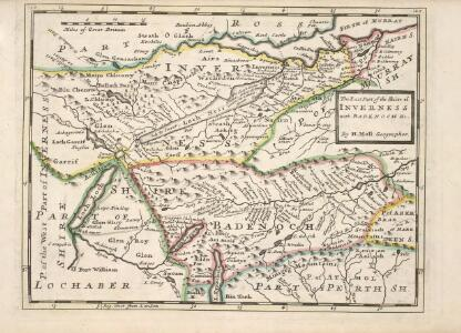 The East Part of the Shire of Inverness with Badenoch &c. / by H. Moll.
