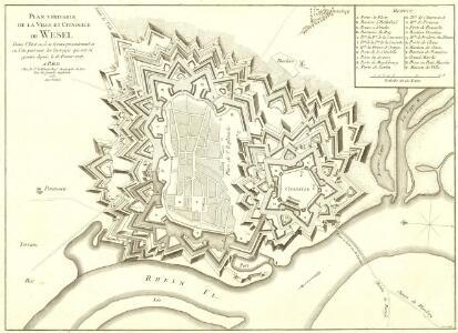 Plan Veritable de la Ville et Citadelle de Wesel