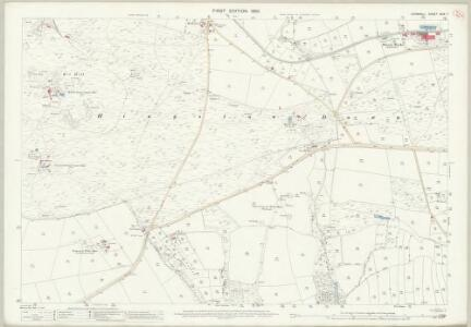 Cornwall XXIX.7 (includes: Callington; Calstock; Stoke Climsland) - 25 Inch Map