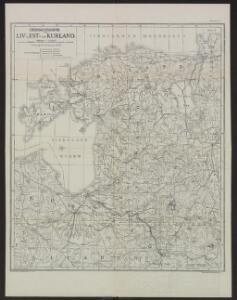 Übersichtskarte von Liv-, Est- und Kurland