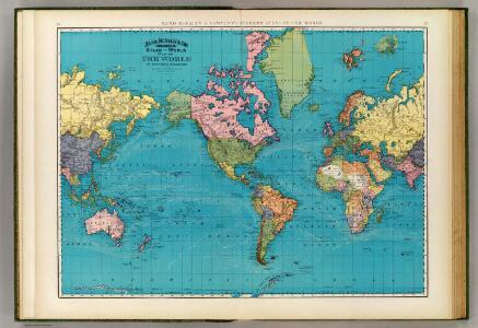 World, Mercator's projection.