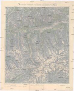 Skikarte für das Gebiet von Krimml und des Großvenedigers