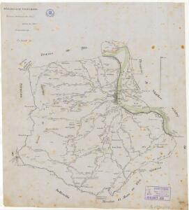 Mapa planimètric del terme municipal d'Ascó