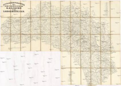 Strassen-Karte des Koenigreiches Galizien und Lodomerien