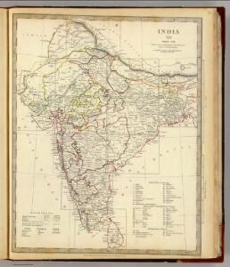India XII. Index map.