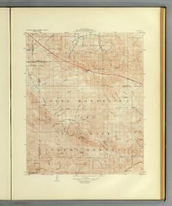 Mt. Pinos quadrangle showing San Andreas Rift.