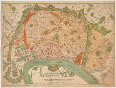 Plan de la ville d'Anvers et ses environs