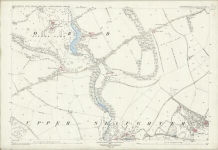 Gloucestershire XXVIII.4 (includes: Lower Slaughter; Naunton; Swell; Upper Slaughter) - 25 Inch Map
