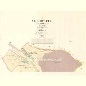 Lechowitz (Lechowice) - m1490-1-001 - Kaiserpflichtexemplar der Landkarten des stabilen Katasters