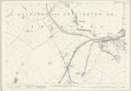 Cumberland LXVIII.1 (includes: Arlecdon and Frizington) - 25 Inch Map