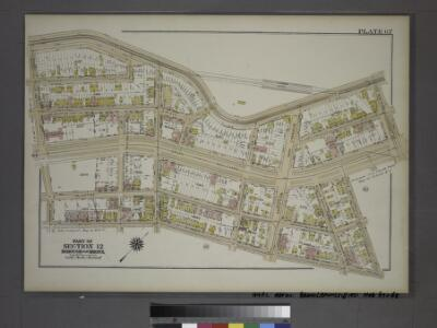 Plate 67, Part of Section 12, Borough of the Bronx. [Bounded by Jerome Avenue, E. 204th Street, Grand Boulevard, E. 202nd Street, Briggs Avenue and E. 196th Street.]
