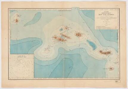 Carte bathymétrique des Iles Açores : d'après les cartes française et anglaises, les sondages du