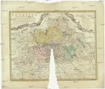 Lusatiae inferioris tabula chorographica secundum statum recentissimum