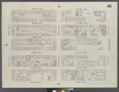 Plate 91: Map bounded by West 37th Street, Sixth Avenue, West 32nd Street, Eighth Avenue