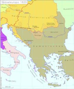 Südosteuropa 1820