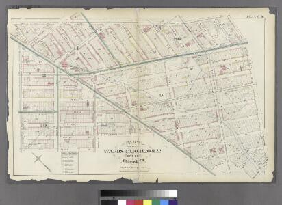 Plate 9: Part of Wards 3, 9, 10, 11, 20 & 22. City of Brooklyn.
