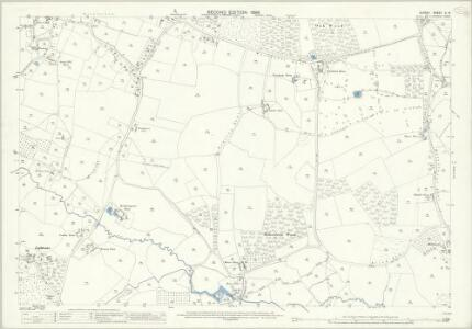 Surrey X.14 (includes: Chobham; Windlesham) - 25 Inch Map