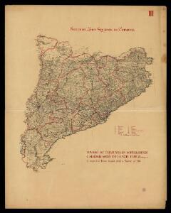 Divisió de Catalunya en corregiments i subdelegació de la Vall d'Aràn segons el mapa d'en Tomas López editat a Madrid el 1776