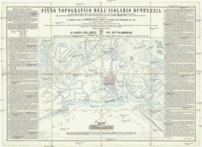Piano topografico dell'isolario di Venezia