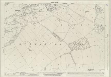 Northamptonshire XVII.1 (includes: Cottingham; East Carlton; Middleton) - 25 Inch Map
