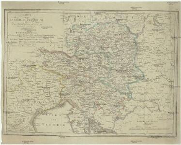 Karte von Inneroesterreich oder das Herzoghtum Steyermark, Kaernthen und Krain