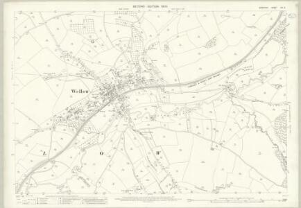 Somerset XXI.5 (includes: Hinton Charterhouse; Wellow) - 25 Inch Map
