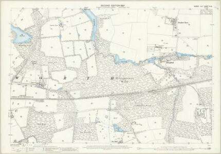 Sussex IV.10 (includes: Worth) - 25 Inch Map