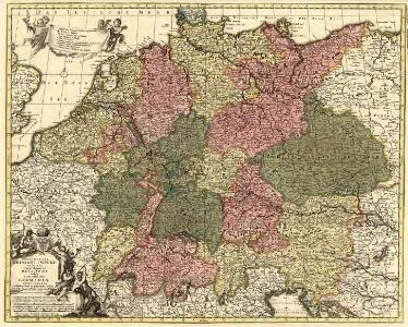 Peraccurata S. Romani Imperii Tabula, comprehendens Regiones vulgo sub Nomine Germaniae Nuncupantes