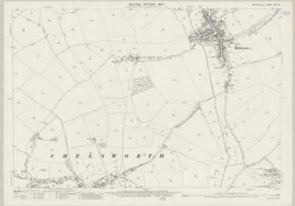 Suffolk LXIV.16 (includes: Bildeston; Chelsworth; Hitcham; Kettlebaston; Monks Eleigh; Nedging with Naughton) - 25 Inch Map