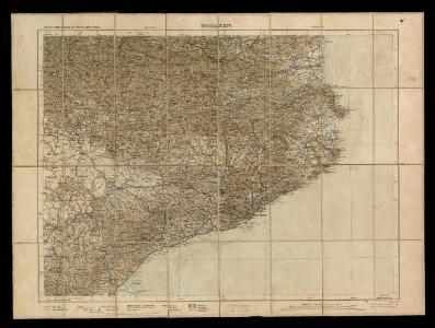 Carte de France dressée au Depot des Fortifications. Feuille XIV Barcelone Perpignan.