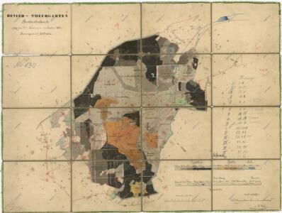 Porostní mapa revíru Obora
