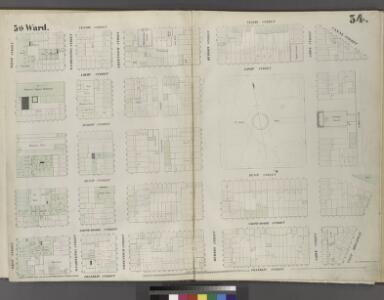 Plate 34: Map bounded by Vestry Street, Canal Street, Laight Street, St. John's Lane, West Broadway, Franklin Street, West Street.