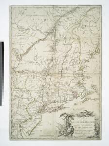 Carte du theatre de la guerre entre les Anglais et les Américains; dressée d'aprés les cartes anglaises les plus modernes / par M. Brion de la Tour, ingénieur-géographe du roi.