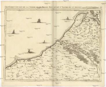 Les embouchures de la Somme et de Bresle riv. ou est St. Valeri, Eu et Dieppe