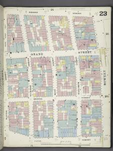 Manhattan, V. 1, Plate No. 23 [Map bounded by Broome St., Bowery, Canal St., Baxter St.]