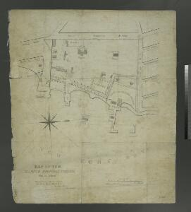 Map of the Marine Hospital ground, Staten Island / reduced from a survey, made by John Ewen, dated March 1845 by Daniel Ewen, city surveyor.