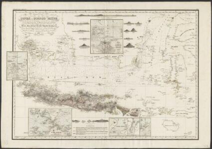 Reduzirte Karte vom Sunda- Oder Borneo-Meere und den Strassen zur Verbindung desselben mit dem Indischen und dem Chinesischen Meere, der Macassar-Strasse &c, zugleich als Karte von Djava, den kleinen Sunda-Inseln, Celebes, &c, &c.