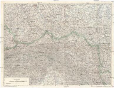 Übersichtskarte des russischen Kriegsschauplatzes