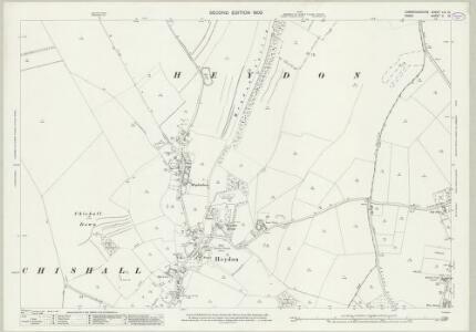 Cambridgeshire LIX.13 (includes: Chrishall; Great Chishill; Heydon) - 25 Inch Map