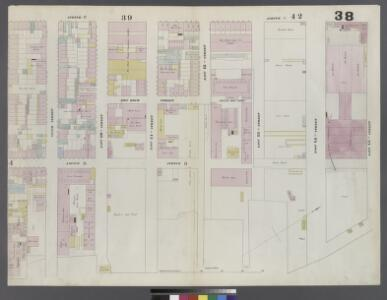 Plate 38: Map bounded by East 15th Street, East River, 8th Street, Avenue C