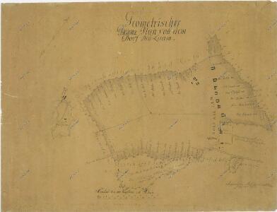 Geometrický plán pozemků sedláků z Nové Hlíny u rybníka Rožmberk 1